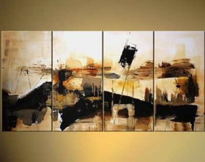 Abstract Landscape-Modern Canvas Oil Painting Wall Art With pertaining to Abstract Landscape Wall Art
