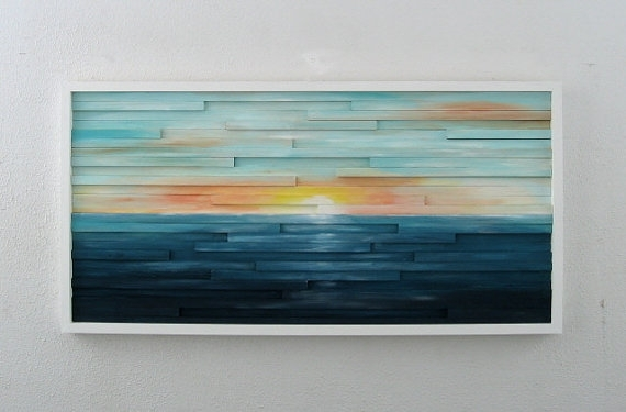 Abstract Landscape Painting On Wood Abstract Wall Art With Regard To Abstract Landscape Wall Art (Image 4 of 15)