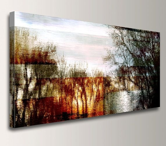 Abstract Landscape – Photography – Canvas Print – Panoramic Wall In Abstract Landscape Wall Art (Image 3 of 15)