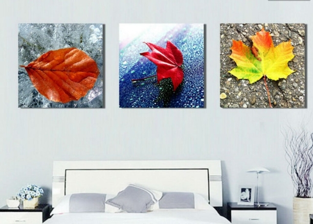 Abstract Leaf Painting Living Room Decoration Pictures Wall Art With Regard To Abstract Leaves Wall Art (Image 3 of 15)