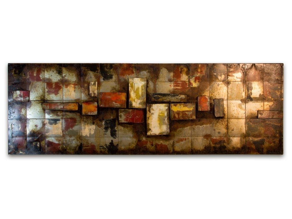 Abstract Metal Wall Decor | Rusty Metal Wall Hanging For Abstract Art Wall Hangings (Image 2 of 15)