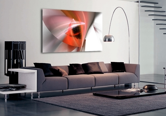 Abstract Modern Design Orange Canvas Artbuy Abstract Modern For Intended For Modern Abstract Wall Art (View 11 of 15)