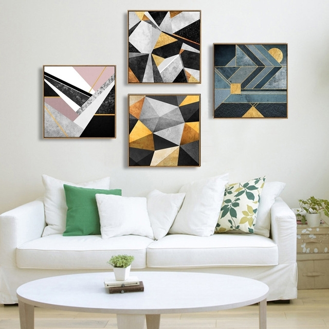 Abstract Multi Colors Canvas Paintings Modern Oil Wall Art Poster With Abstract Wall Art Posters (View 8 of 15)
