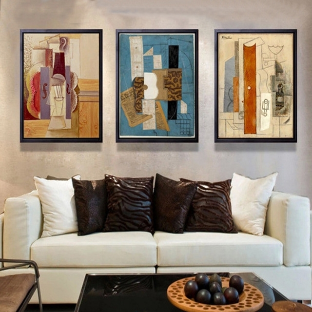 Abstract Multi Colors Piano Canvas Painting Famous Poster And Within Abstract Piano Wall Art (Image 4 of 15)