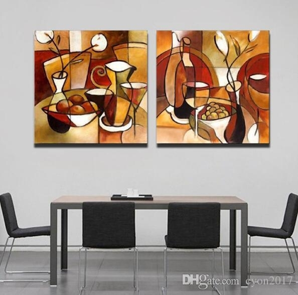 Abstract Music Wall Art Kitchen Decor Living Room 5Pcs Abstract Regarding Abstract Kitchen Wall Art (Image 5 of 15)
