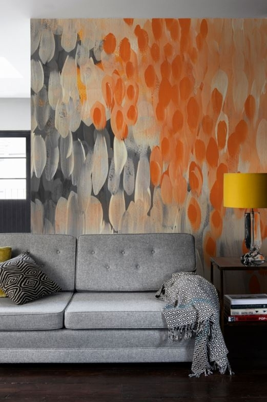 Abstract Oranges' Mural | Wall Murals, Walls And Shopping Regarding Murals Wall Accents (View 14 of 15)