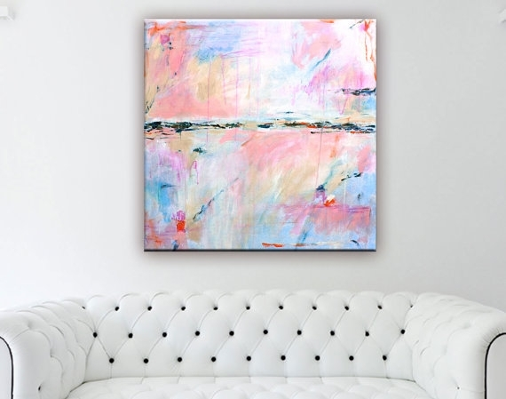 Abstract Painting Print Large Abstract Art Canvas Print For Pastel Abstract Wall Art (Image 5 of 15)