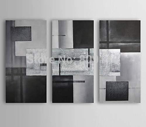 Abstract Portrait Oil Painting Canvas Decorative Artwork High Pertaining To Gray Abstract Wall Art (Image 1 of 17)