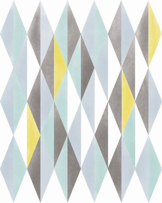 Abstract Print Wall Decor, Norwegian Digital Print Geometric Intended For Scandinavian Fabric Wall Art (Image 4 of 15)