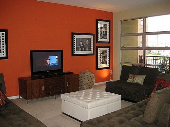 Accent Wall Color Modern Design, Yellow Accent Wall, Accent Walls With Regard To Wall Colors And Accents (Image 6 of 15)