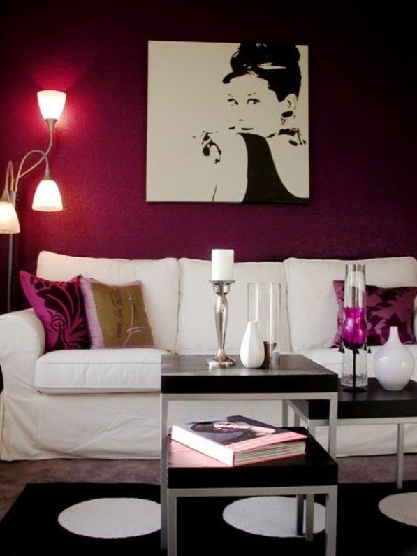 Accent Wall Colors Design Idea For Your Wall Setting : Wonderful Throughout Maroon Wall Accents (View 6 of 15)