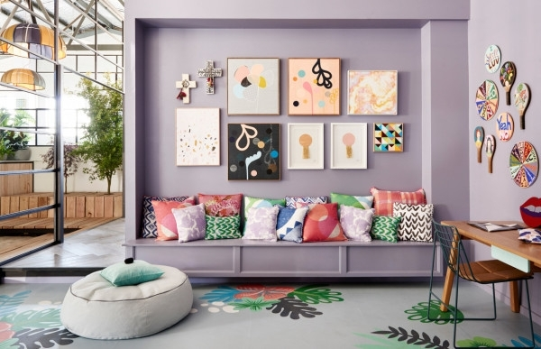 Accent Wall Inspiration :: Gimme Color – Coco Kelley Coco Kelley With Wall Art Accents (Image 2 of 15)