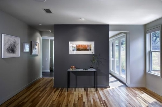 Accent Wall: Sherwin Williams Gauntlet Gray | Gray | Pinterest Regarding Gray Wall Accents (Image 2 of 15)