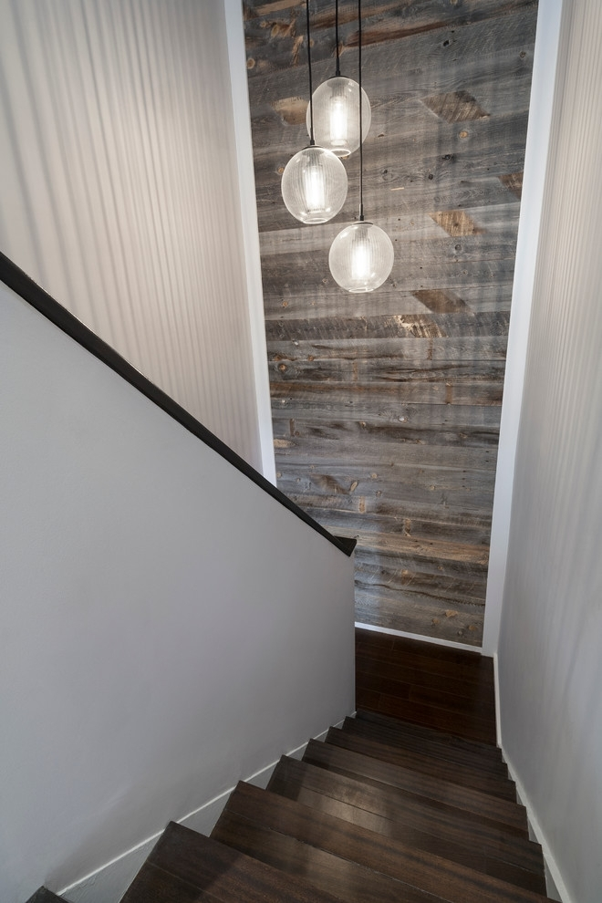 Accent Wall Staircase Staircase Modern With Reclaimed Wood With Staircase Wall Accents (Image 2 of 15)