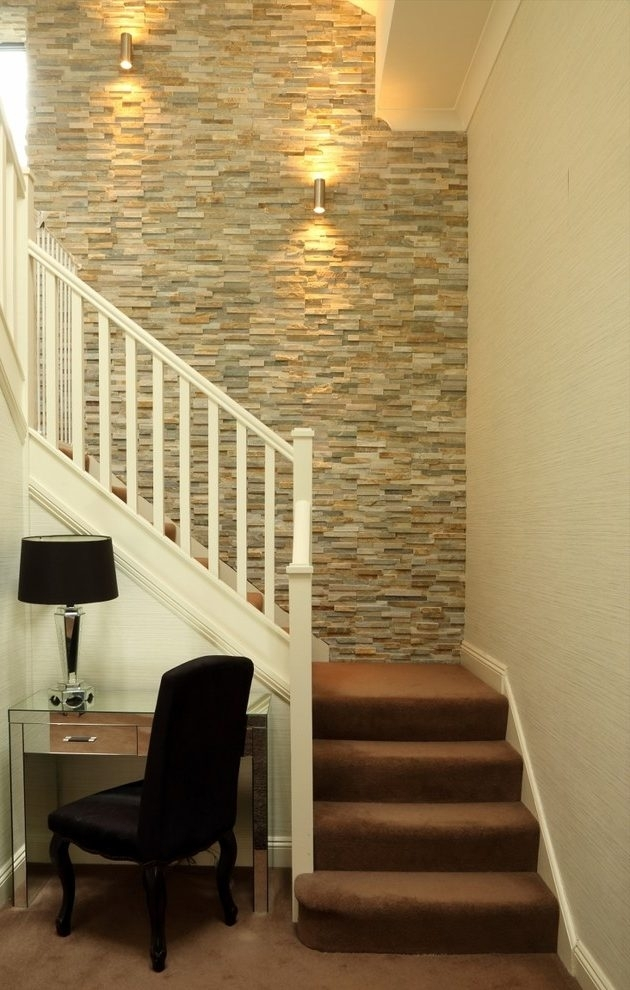 Accent Wall Staircase Staircase Transitional With Feature Slate Within Staircase Wall Accents (Image 3 of 15)