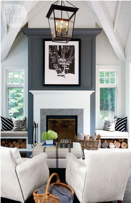 Accent Wall Update! New Trends In Accent Walls | Bossy Color Annie With Regard To Fireplace Wall Accents (View 4 of 15)
