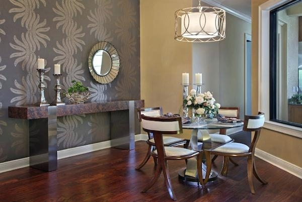 Accent Wallpaper Dining Room Choosing The Ideal Accent Wall Color Intended For Dining Room Wall Accents (View 2 of 15)