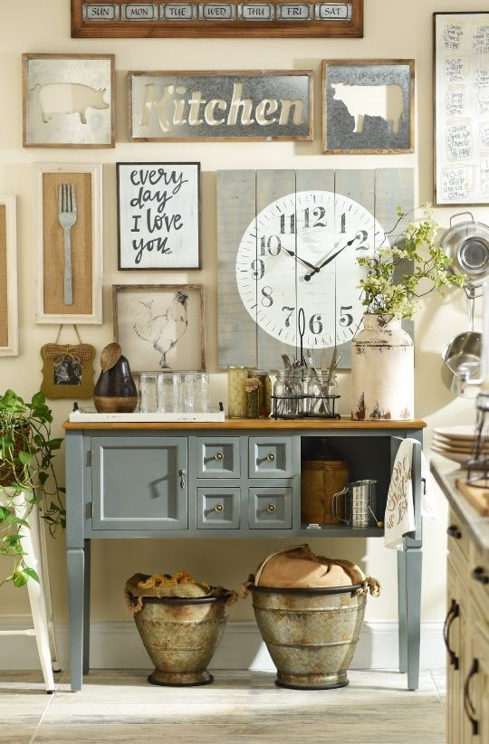 Add A Little Rustic, Country Charm To Your Kitchen, And You Will With Regard To Wall Accents For Kitchen (Image 2 of 15)