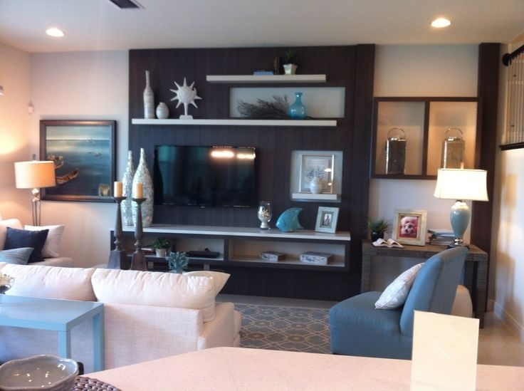 Add An Accent Color In A Large Area Behind The Tv, But Maybe Not Inside Wall Accents With Tv (Image 5 of 15)