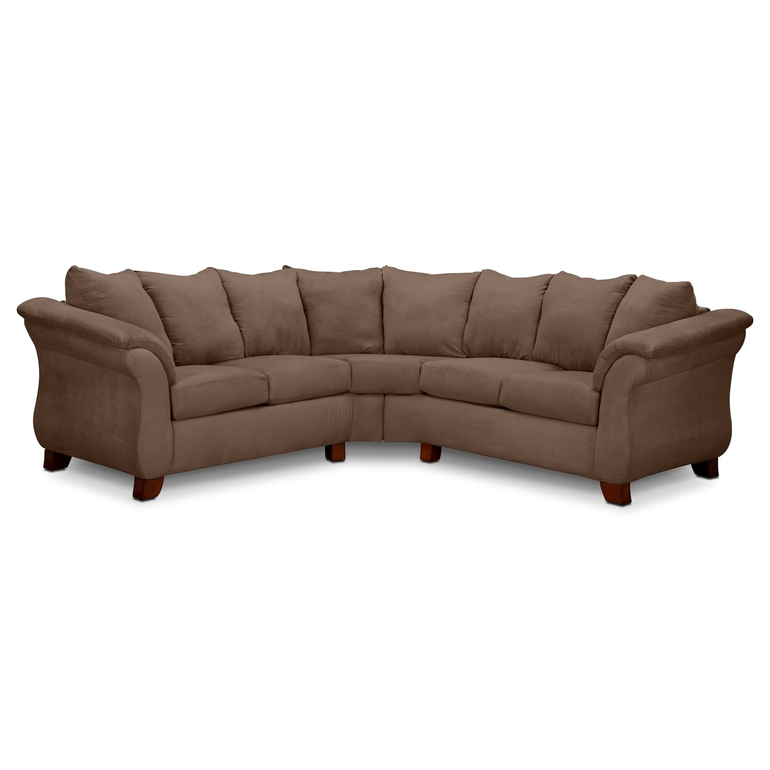 Adrian 2 Piece Sectional – Taupe | American Signature Furniture Throughout Naples Fl Sectional Sofas (View 10 of 10)