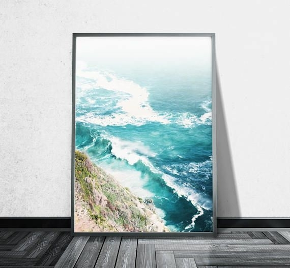 Aerial Beach Photography Ocean Canvas Wall Art Aerial Photography For Cape Town Canvas Wall Art (Image 3 of 15)