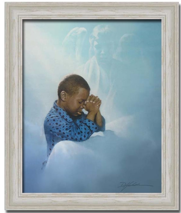 African American Boy Praying Angeldanny Hahlbohm – Framed Art In Framed African American Art Prints (Image 8 of 15)