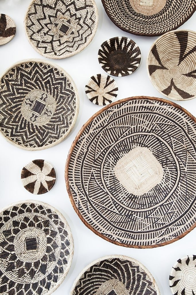 African Basket Wall Art Installation I Created From Baskets I Inside African Wall Accents (View 25 of 27)