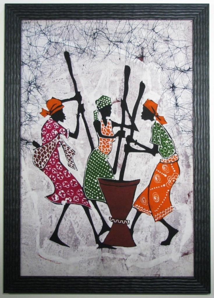 African Batik Fabric Art | Fabulous Framed Fabric Art | Pinterest With Regard To Batik Fabric Wall Art (Image 4 of 15)