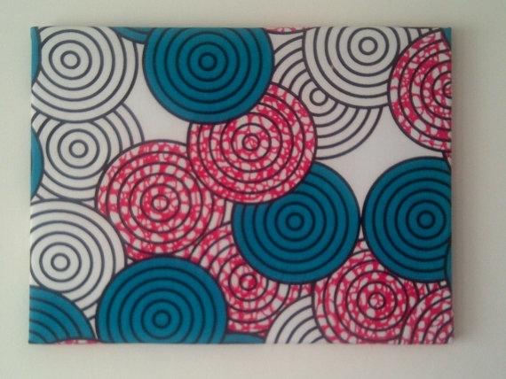 African Fabric Wall Decor, Fuchsia Teal Geometric Nursery Retro With Regard To African Fabric Wall Art (View 2 of 15)