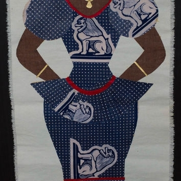 African Fabric Woman Ethnic Wall Hanging, From The Spiff Junction In African Fabric Wall Art (View 11 of 15)