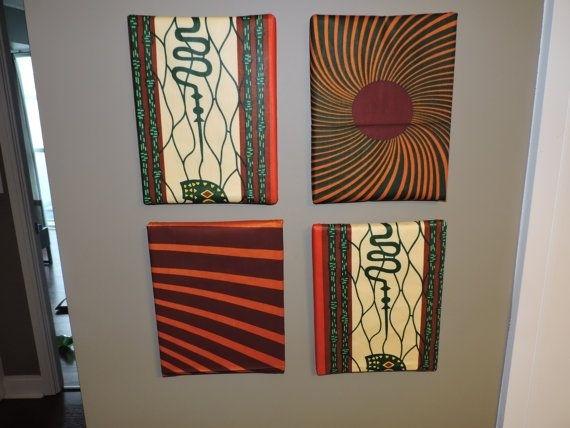 African Print Home/wall Decor, Ankara Wall Canvas | Wall Canvas For Ankara Fabric Wall Art (View 7 of 15)