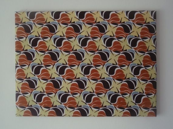 African Print Wall Art, Coffee Beans African Print, Back To School With Regard To African Fabric Wall Art (View 9 of 15)