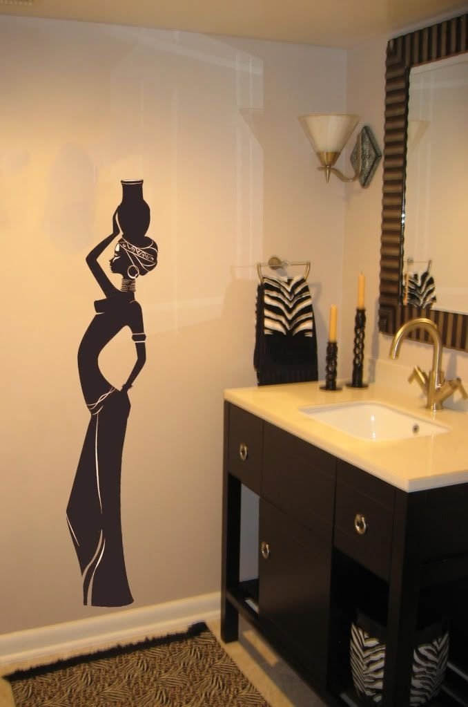African Wall Art | About Beautiful Tribal African Girl Vinyl Intended For African Wall Accents (View 15 of 27)
