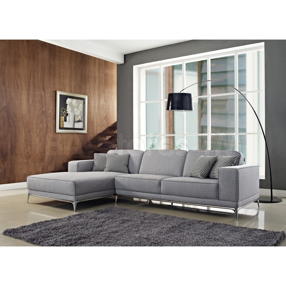 Agata Sectional Sofa | Light Grey – $2, (Image 1 of 10)