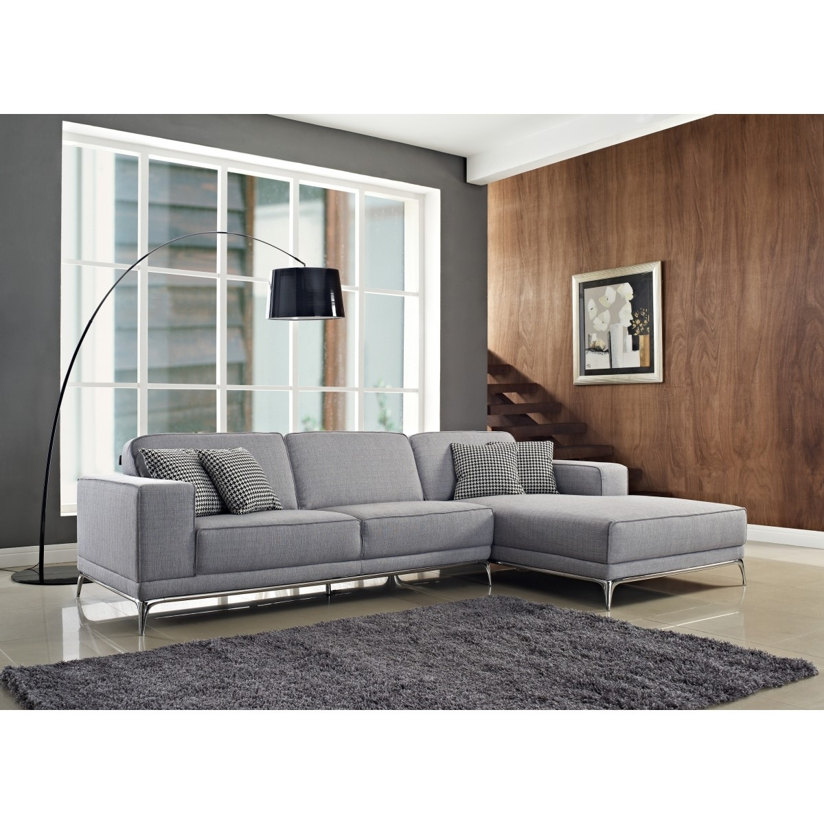 Agata Sectional Sofa | Light Grey | Sectional Sofas Cr Agata In Light Grey Sectional Sofas (Image 2 of 10)