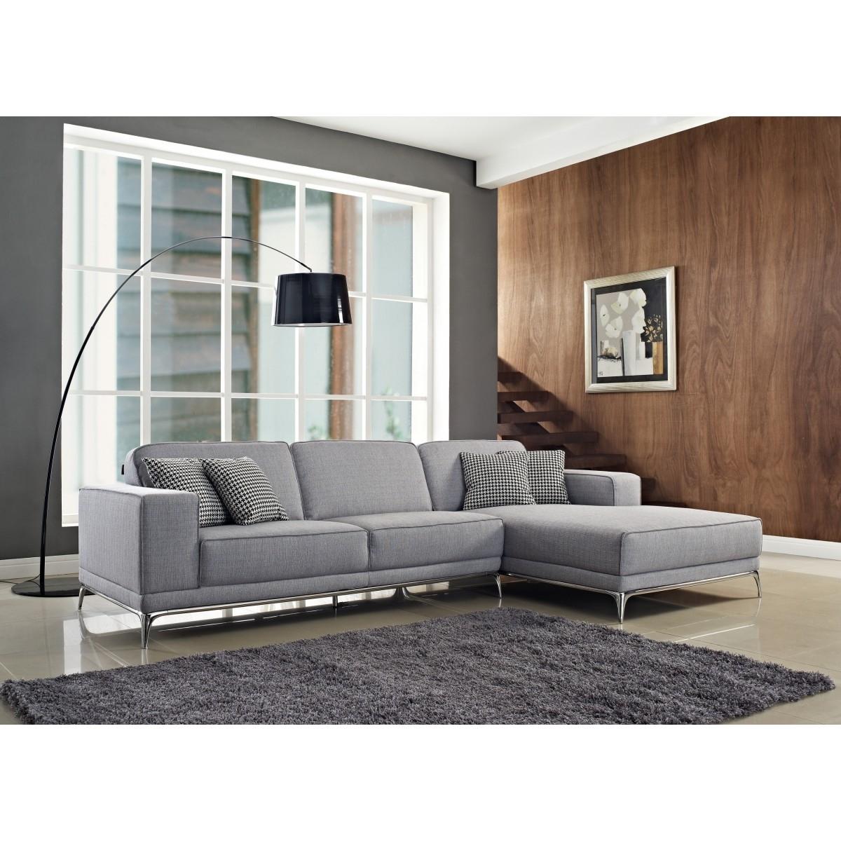 Agata Sectional Sofa | Light Grey | Sectional Sofas Cr Agata In Light Grey Sectional Sofas (Image 2 of 10)