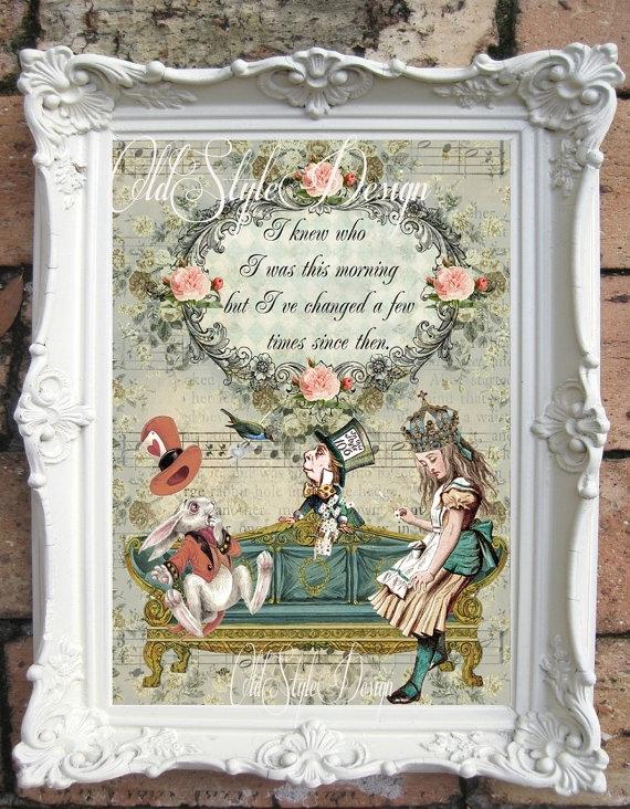 Alice In Wonderland Art Print. Alice In Wonderland Quote (Image 6 of 15)
