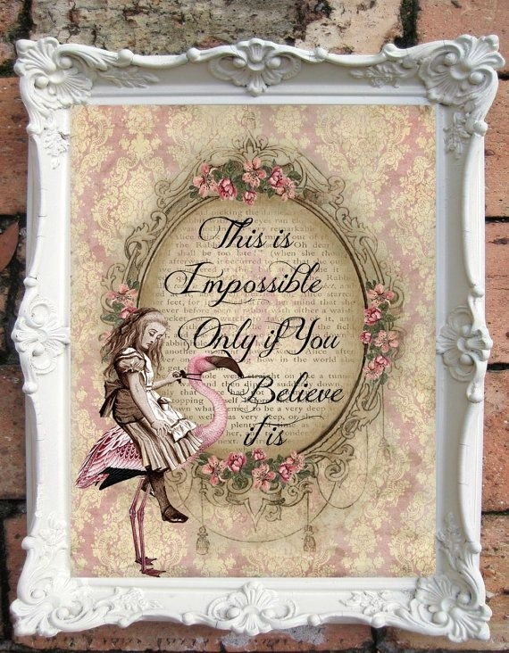Alice In Wonderland Quote Art Print (View 11 of 15)