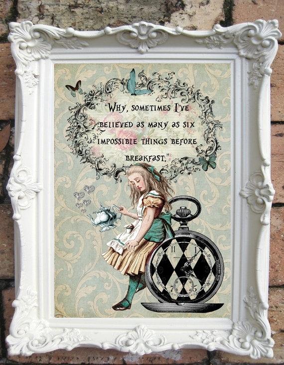 Alice In Wonderland Quote Art Print (Image 8 of 15)