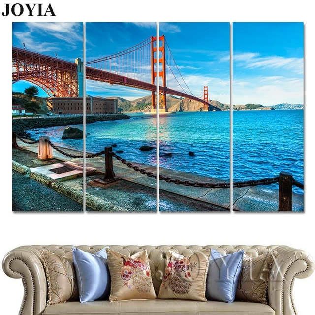 Aliexpress : Buy 3 Piece Golden Gate Bridge Canvas Wall Art In Golden Gate Bridge Canvas Wall Art (Image 5 of 15)