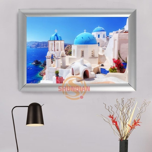 Aliexpress : Buy Greece Custom Frame Painting Canvas Prints In Greece Canvas Wall Art (View 6 of 15)