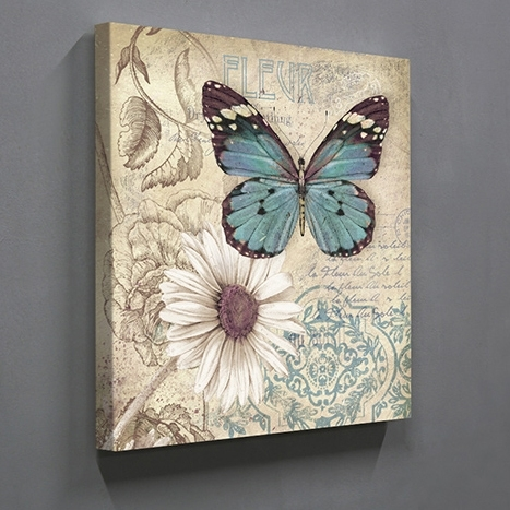 Aliexpress : Buy Single Panel Butterfly Home Decor Wall Art For Butterflies Canvas Wall Art (Image 4 of 15)