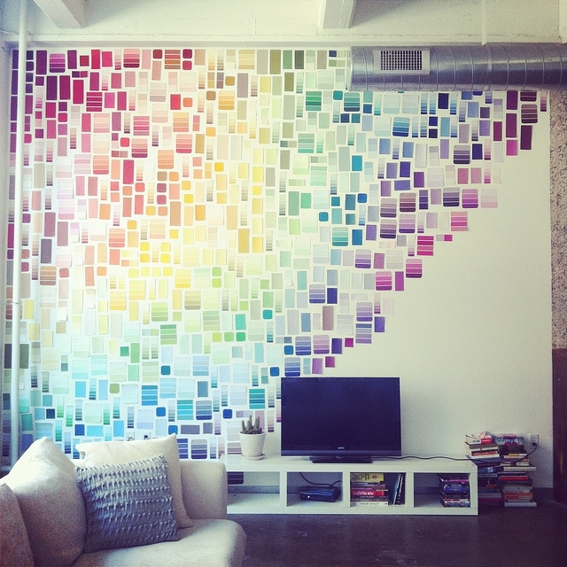 All Finished | Paint Swatches, Swatch And Dorm With Fabric Swatch Wall Art (Image 4 of 15)