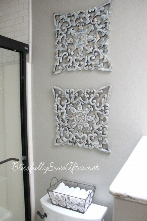 Alluring Best 25 Wall Decor For Bathroom Ideas On Pinterest Rustic Inside Diy Wall Accents (Image 5 of 15)