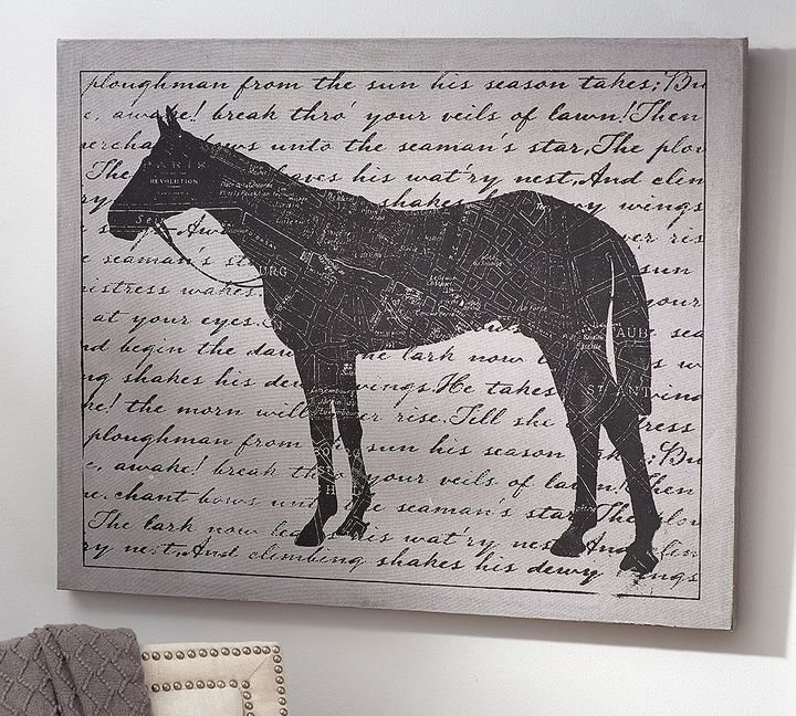 Amazing Decoration Horse Canvas Wall Art Pottery Barn 149 Gifts Throughout Horses Canvas Wall Art (Image 2 of 15)
