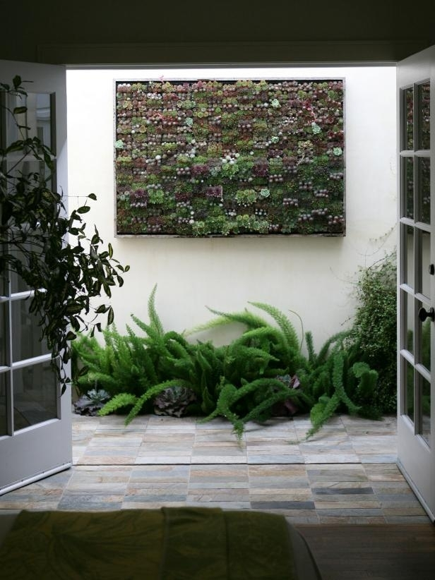 Amazing Outdoor Walls And Fences | Hgtv Inside Abstract Garden Wall Art (View 8 of 15)