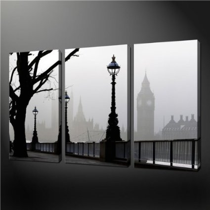 Amazon – 3 Piece Wall Art Painting Pictures Print On Canvas Intended For Canvas Wall Art Of London (Image 4 of 15)