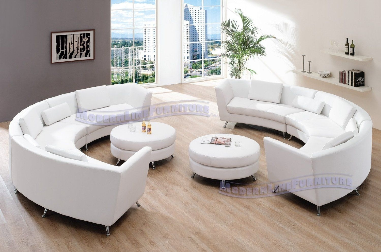 Amazon: Exclusive Modern Furniture Vip Sectional With Two White Throughout Sectional Sofas At Amazon (Image 3 of 10)