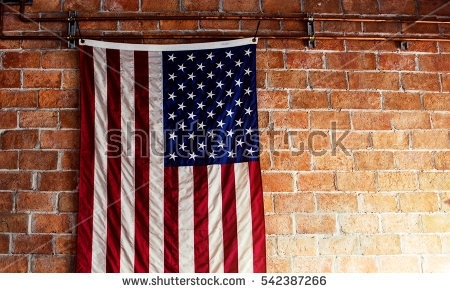 American Flag Hanging Stock Images, Royalty Free Images & Vectors Inside American Flag Fabric Wall Art (View 12 of 15)