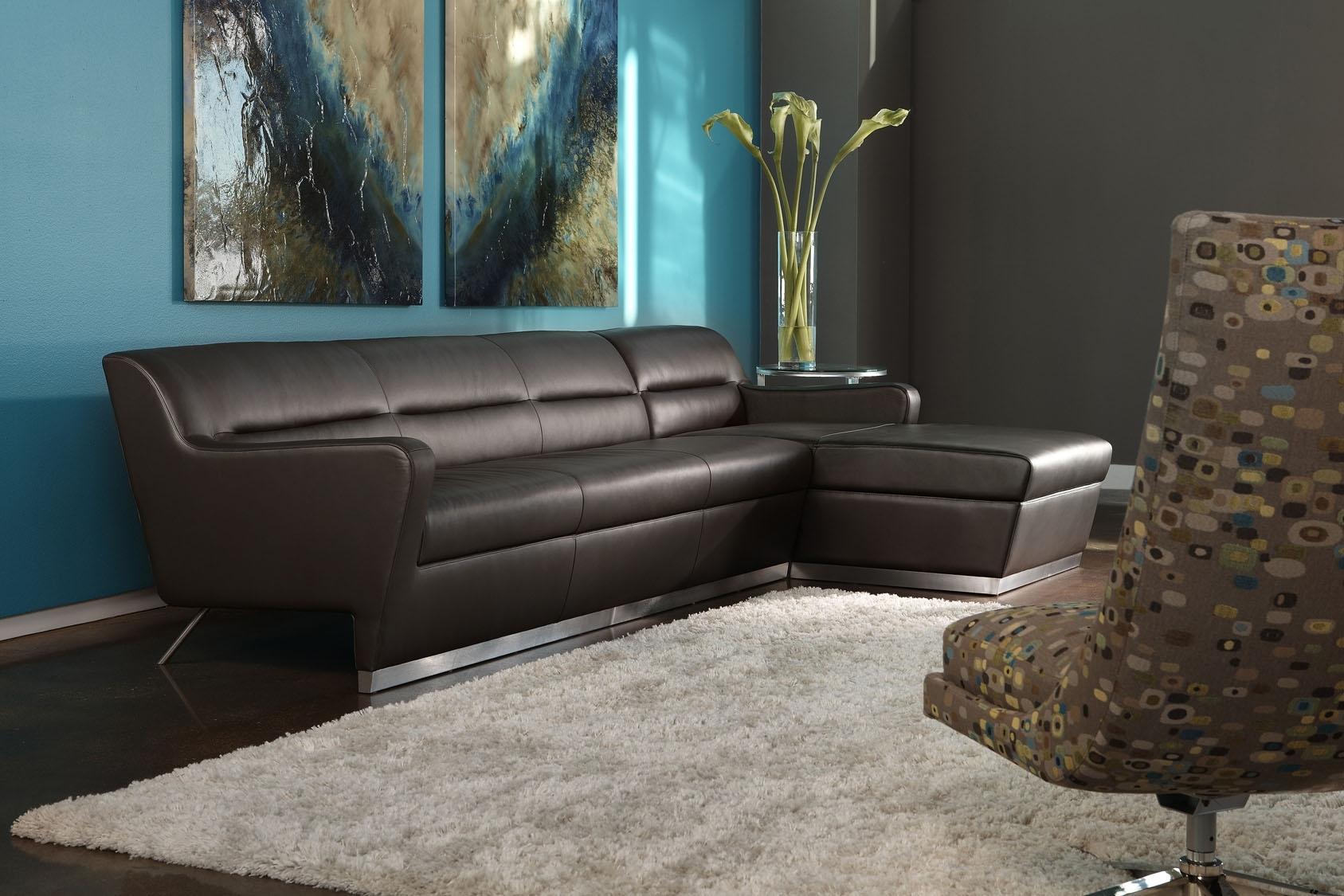 American Leather Niagara Sectional Sofa | Modern Furniture Throughout Niagara Sectional Sofas (Image 4 of 10)